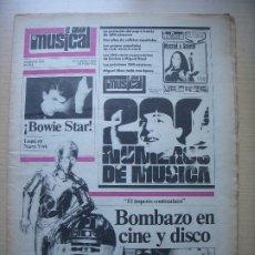 Revistas de música: EL GRAN MUSICAL Nº 200 OCTUBRE 1980 BOWIE BEATLES STAR WARS MICHAEL JACKSON NACHA POP WHITESNAKE. Lote 210566548
