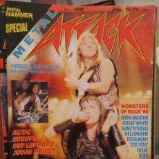 Magazines de musique: METAL ATTACK:N.1 !!!!-IRON MAIDEN-KISS-AC/DC-HELLOWEEN-EUROPE-MEGADETH-TESTAMENT. Lote 210607131