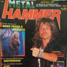 Revistas de música: METAL HAMMER:NUM.1 !!!-WHITESNAKE-DORO PESCH & WARLOCK-KISS-UDO-KREATOR-AC/DC. Lote 210607370