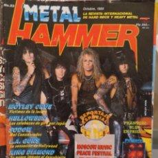 Revistas de música: METAL HAMMER:N.23-MOTLEY CRUE-SODOM-MICHAEL MONROE-KING DIAMOND-W.A.S.P-ACCEPT. Lote 210607813