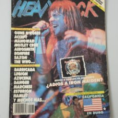 Revistas de música: REVISTA HEAVY ROCK N°75 NOVIEMBRE 1989. Lote 210618801