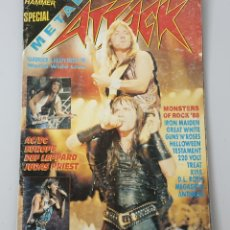 Revistas de música: REVISTA METAL HAMMER SPECIAL METAL ATTACK N°1 AÑO 1988. Lote 210618933