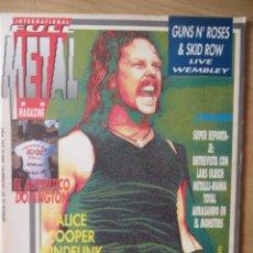 Revistas de música: FULL METAL:NUM.20-METALLICA-ALICE COOPER-AC/DC-LEGION-DE KALLE-MOTLEY CRUE-ETC... Lote 210939615