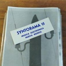 Magazines de musique: SYNTORAMA - SUPER RARO FANZINE ESPAÑOL MÚSICA ELECTRÓNICA Y MÚSICA EXPERIMENTAL, NÚMERO 15 1987. Lote 211933707
