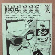 Revistas de música: KOCTEL (BARCELONA 1984). HISTÓRICO FANZINE ORIGINAL; MÚSICA (ZORROS PRAGMÁTICOS, PIL, RESIDENTS, PER. Lote 212171512