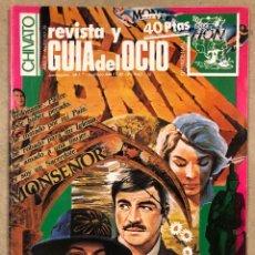 Revistas de música: CHIVATO N° 35 (1983) REVISTA Y GUÍA DEL OCIO DE BILBAO; MCD, RIP, ESKORBUTO, BASURA, VULPES, LA UVI,. Lote 212366122