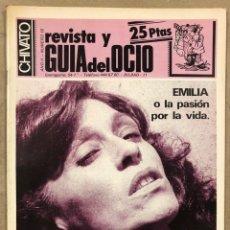 Revistas de música: CHIVATO N° 16 (1982) REVISTA Y GUÍA DEL OCIO DE BILBAO; BARON ROJO, RIZOS, TINO CASAL. Lote 212374507