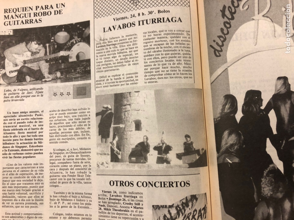 Revistas de música: CHIVATO N° 44 (1983) REVISTA Y GUÍA DEL OCIO DE BILBAO; LOLE Y MANUEL, ALMODÓVAR Y MCNAMARA,.. - Foto 10 - 212375700