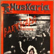 Revistas de música: MUSKARIA N° 20 (1984). BARRICADA, RIP, ESKORBUTO,, ILEGALES, GOLPES BAJOS, THE CRAMPS, CIBERNAUTAS,.. Lote 212429002