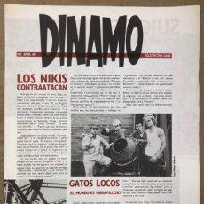 Revistas de música: DINAMO N° 5 (1989) - BOLETÍN DRO-GASA - LOS NIKIS, GATOS LOCOS, SUICIDE, LOS COYOTES,.... Lote 212430836