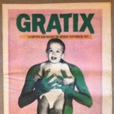 Revistas de música: GRATIX N° 1 (1984). RAMONCÍN, LOS COYOTES, TOM VERLAINE, BEATLES EN LA MONUMENTAL, GRAN WIOMING,.... Lote 212431223