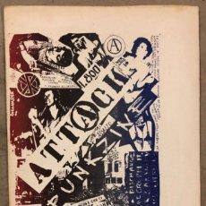 Revistas de música: ATTACK PUNKZINE (ITALIA 1980). HISTÓRICO FANZINE ORIGINAL; CRASS, DISCHARGE , POLICI REPRESSION,. Lote 212431391