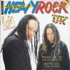 Revistas de música: REVISTA HEVY ROCK. Lote 212516641