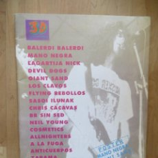 Revistas de música: THREE DIMENSIONAL:NUM.0 !!-MANO NEGRA-LAGARTIJA NICK-PLATERO Y TU-LOS CLAVOS. Lote 212644792