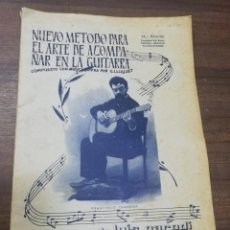 Revistas de música: NUEVO METODO PARA EL ARTE DE ACOMPAÑAR EN LA GUITARRA. G. LLUQUET. SUCESORES LUIS PARODI. CADIZ.. Lote 213061007