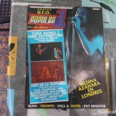 Magazines de musique: POPULAR 1 Nº 118, POSTER U.F.O,MEDINA AZAHARA, TONY BANKS Y MIKE RUTHERFORD,. Lote 213535870