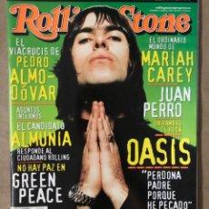 Revistas de música: ROLLING STONE N° 5 (2000). OASIS, PEDRO ALMODÓVAR, JUAN PERRO, MARIAH CAREY, JOAQUÍN ALMUNIA,.... Lote 213578156