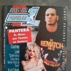 Revistas de música: POPULAR 1 NUM 248. PANTERA. HOLE. KISS. ALICE COOPER. COUNTING CROWS. LA GRANJA. JAVIER VARGAS.. Lote 213612720
