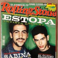 Revistas de música: ROLLING STONE N° 15 (2001). ESTOPA, JOAQUIN SABINA, 40 HIMNOS POP ESPAÑOL, STING,.... Lote 213638180