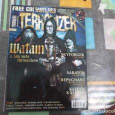 Revistas de música: TERRORIZER Nº 197, EN INGLES,WATAIN, SKYFORGES,SABATON, REPUGNANT,KEEP OF KALESSIN. Lote 214246117