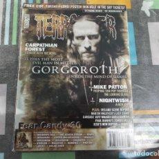 Revistas de música: TERRORIZER Nº 146, GORGOROTH,CARPATHIAN FOREST, MIKE PATTON, NIGHTWISH. Lote 214247566