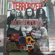 Revistas de música: TERRORIZER Nº 200, SEPULTURA, 200 ALBUM,DANZIG, WINTERFYLLETH, MAEL MORDHA, MISERY INDEX. Lote 214248415