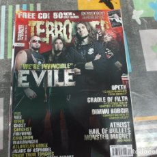 Revistas de música: TERRORIZER Nº 203, EVILE, OPETH, CRADLE OF FILTH,DIMMU BORGIR, ATHEIST, MONSTER MAGNET. Lote 214249618