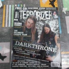 Revistas de música: TERRORIZER Nº 195, NEGURA BUNGET, THE DILLOINGER ESCAPE PLAN,DARKTHRONE, ZOMBIE TAPES. Lote 214250418