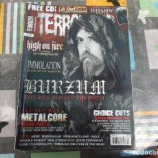 Revistas de música: TERRORIZER Nº 194, HIGH ON FIRE, IMMOLATION,BURZUM, METALCORE, CHOICE CUTS. Lote 214250572