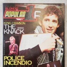 Revistas de música: POPULAR 1 MAYO 1980 NÚMERO 83. Lote 214420728