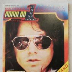 Revistas de música: POPULAR 1 FEBRERO 1979 NÚMERO 68 INCLUYE PÓSTER ROD STEWART - JIM MORRISON THE DOORS KEITH RICHARDS. Lote 214421300
