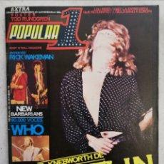 Revistas de música: POPULAR 1 OCTUBRE 1979 NÚMERO 76 NO INCLUYE PÓSTER -LED ZEPPELIN THE WHO. Lote 214421612