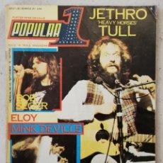 Revistas de música: POPULAR 1 SEPTIEMBRE 1978 NÚMERO 63 INCLUYE PÓSTER DE MINK DEVILLE -JETHRO TULL KATE BUSH. Lote 214421857