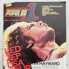Revistas de música: POPULAR 1 SEPTIEMBRE 1977 NÚMERO 51 INCLUYE SOLO UN PÓSTER -LED ZEPPELIN QUEEN SEX PISTOLS. Lote 214425933