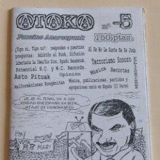 Revistas de música: ATAKA Nº5 - ASTO PITUAK - TERRORISMO SONORO - AL KE NO LE GUSTE KE SE JODA - .... Lote 214513970