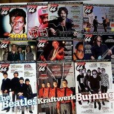 Revistas de música: RUTA 66 LOTE 11 REVISTAS AÑO 2013 COMPLETO. NÚMEROS 300 A 310. Lote 215015566