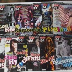 Revistas de música: RUTA 66 LOTE 11 REVISTAS AÑO 2014 COMPLETO. NÚMEROS 311 A 321. Lote 215015973
