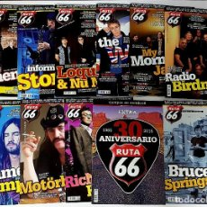 Revistas de música: RUTA 66 LOTE 11 REVISTAS AÑO 2015 COMPLETO. NÚMEROS 322 A 332. Lote 215016192