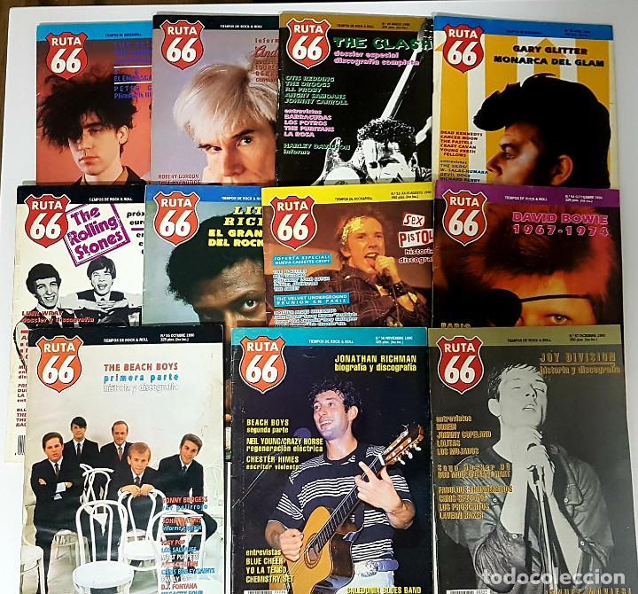 RUTA 66 LOTE 11 REVISTAS AÑO 1990 COMPLETO. NÚMEROS 47 AL 57 (Música - Revistas, Manuales y Cursos)