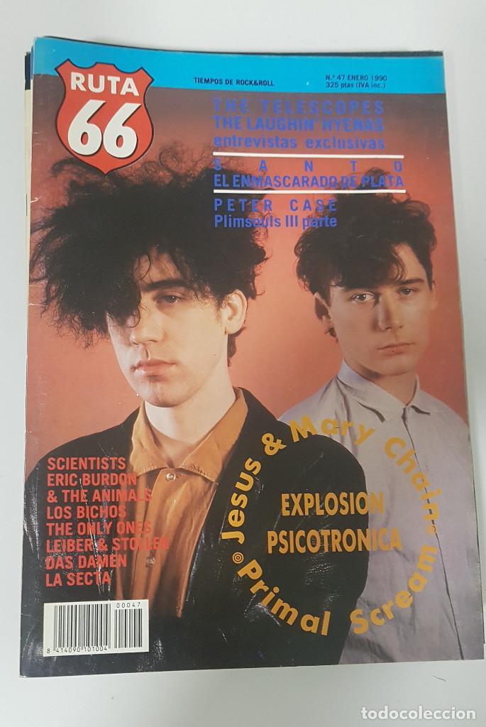 Revistas de música: RUTA 66 LOTE 11 REVISTAS AÑO 1990 COMPLETO. NÚMEROS 47 al 57 - Foto 4 - 215017911