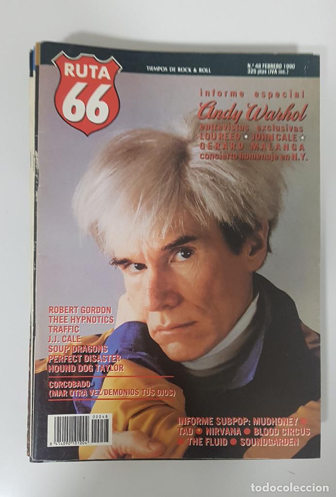 Revistas de música: RUTA 66 LOTE 11 REVISTAS AÑO 1990 COMPLETO. NÚMEROS 47 al 57 - Foto 5 - 215017911