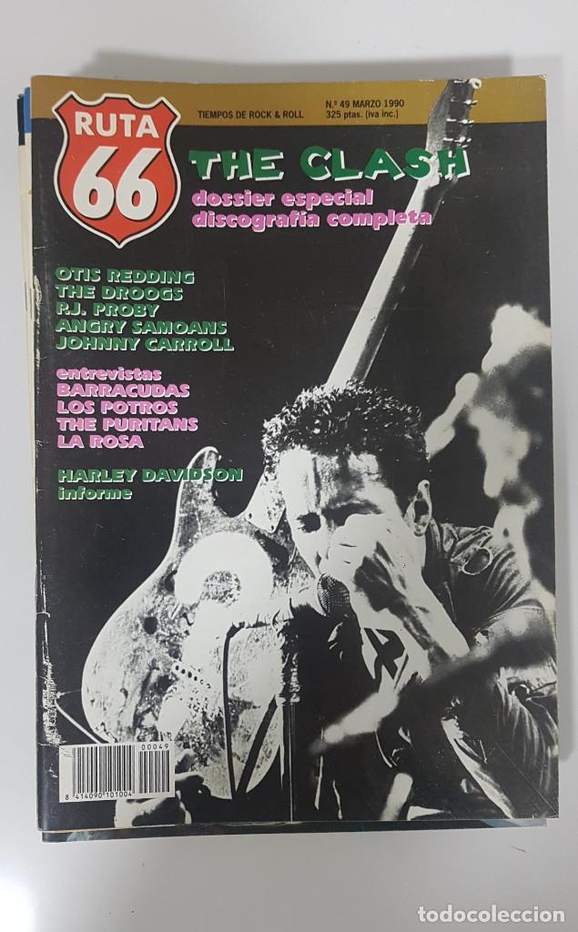 Revistas de música: RUTA 66 LOTE 11 REVISTAS AÑO 1990 COMPLETO. NÚMEROS 47 al 57 - Foto 6 - 215017911