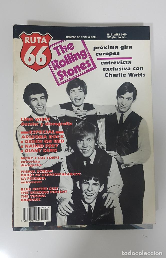 Revistas de música: RUTA 66 LOTE 11 REVISTAS AÑO 1990 COMPLETO. NÚMEROS 47 al 57 - Foto 8 - 215017911