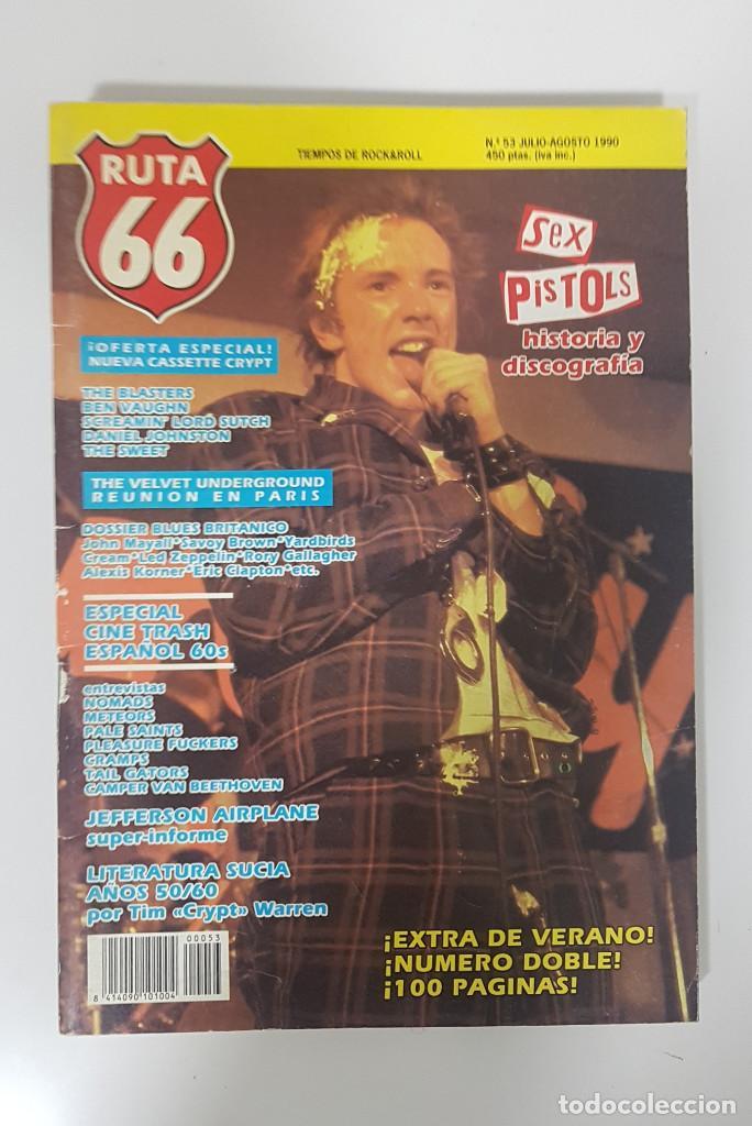 Revistas de música: RUTA 66 LOTE 11 REVISTAS AÑO 1990 COMPLETO. NÚMEROS 47 al 57 - Foto 3 - 215017911