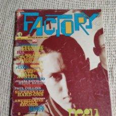 Revistas de música: FACTORY Nº 1 - ENERO-MARZO 1994 - NEGU GORRIAK - RADIOHEAD, POSIES, JOHN ZORN, BELLY, USURA. Lote 215021885