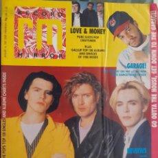 Revistas de música: REVISTA RECORD MIRROR (UK) 14/01/1989 DURAN DURAN, MORRISSEY, LISTAS EXITOS, GARAGE, HOUSE. Lote 215151992