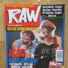 Revistas de música: RAW:N.78-AC/DC-METALLICA-BODY COUNT-BLACK CROWES-MOTLEY CRUE-ETC... Lote 215259262