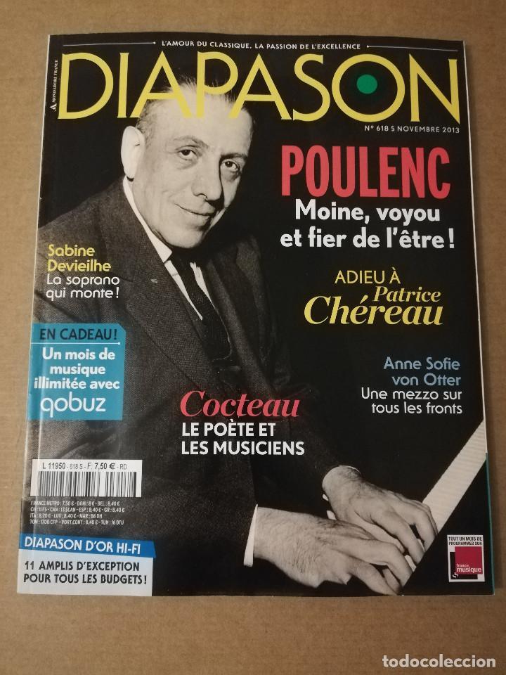 REVISTA DIAPASON Nº 618 (NOVEMBRE 2013) POULENC (Música - Revistas, Manuales y Cursos)