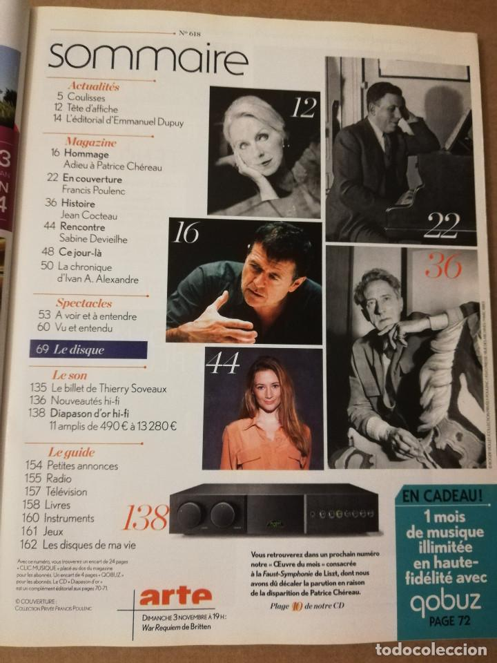 Revistas de música: REVISTA DIAPASON Nº 618 (NOVEMBRE 2013) POULENC - Foto 2 - 215262230