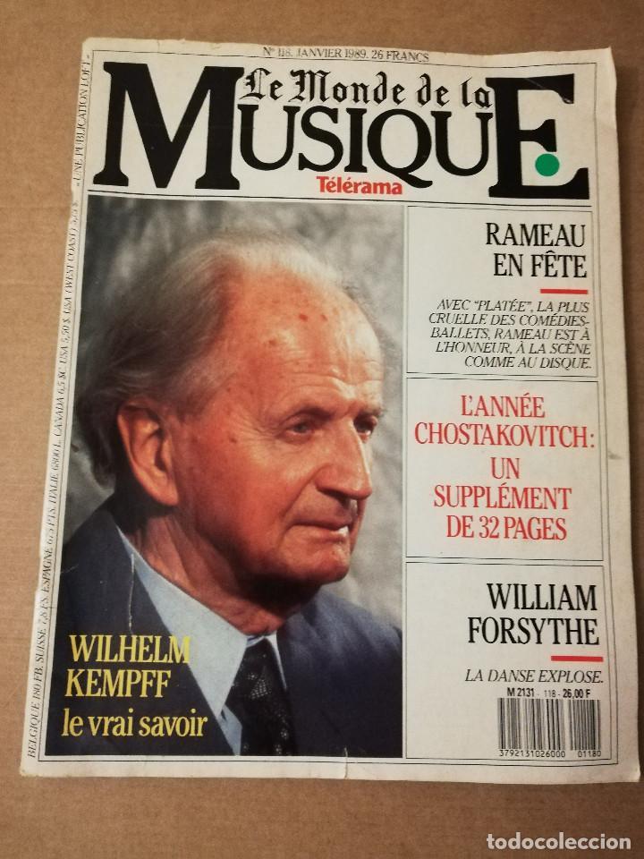 REVISTA LE MONDE DE LA MUSIQUE Nº 118 (JANVIER 1989) WILHELM KEMPFF (Música - Revistas, Manuales y Cursos)